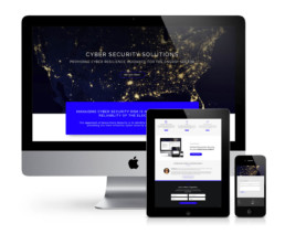 cyber security website design